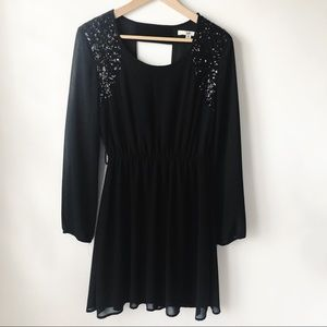 Ya Los Angeles Black Sequin Dress